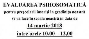 Evaluare psihosomatica 2018-2019 Sc. VNB